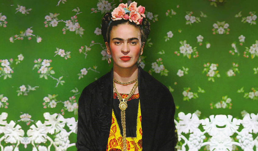 "alt=""Mexico city world - Design capital 2018 - Casa Azul - Frida Kahlo - Ritratto"""