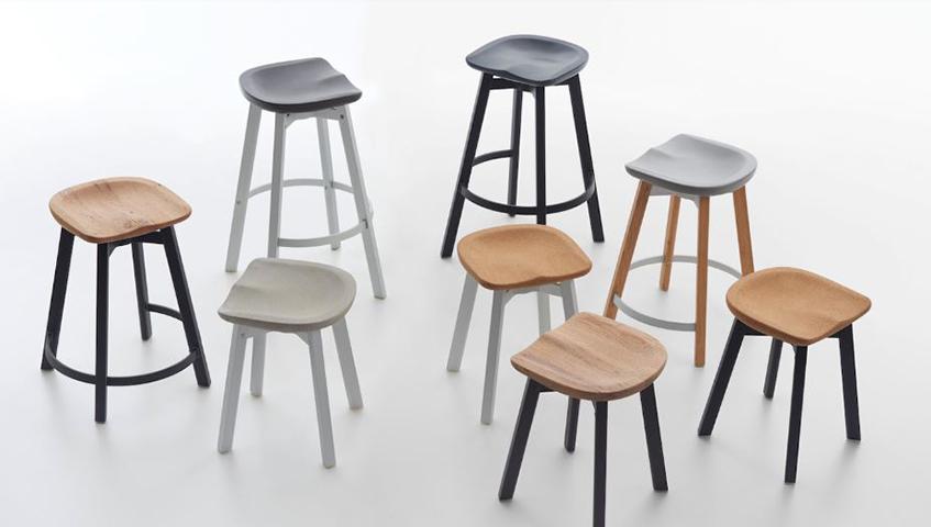 """alt=""""Riuso e riciclo - Eco-sostenibile - Office design - Sgabello - Nendo"""""""