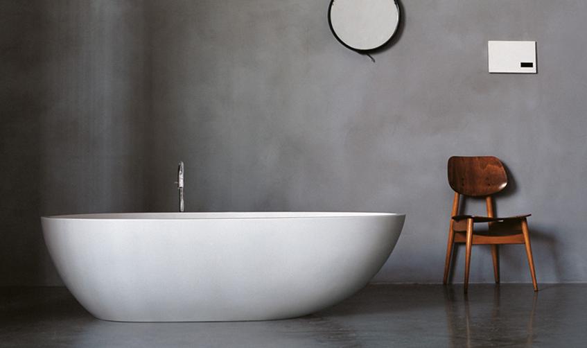"""alt=""""Materiali e design - Un bagno di benessere - Vasca Agape"""""""