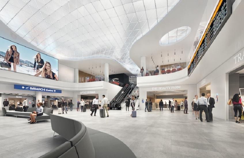 """alt=""""Design in aeroporto - Milano Linate - Restyling terminal - Studio Cerri"""""""