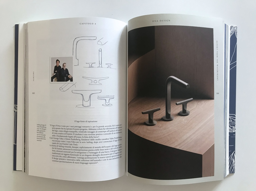 """alt: """"materialiedesign-salone21-report-fantini-rubinetti-libro-sailing"""""""