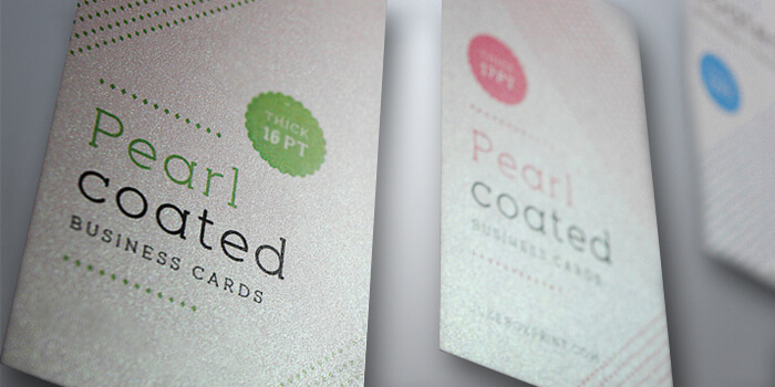 Custom Pearl Metallic Business Cards Printing