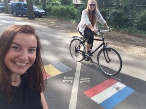 Cycling to the Belgium border.