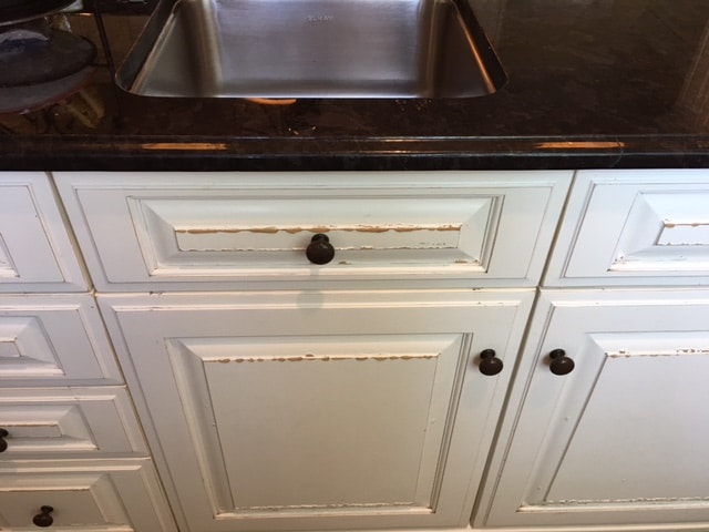 to repair water damaged cabinet doors
