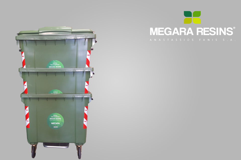 Αποστολή στην εταιρεία Megara Resins 100 πλαστικούς κάδους 1100lt