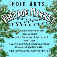 Indie Arts Vintage Market – Every #3rdweekend #downonPark