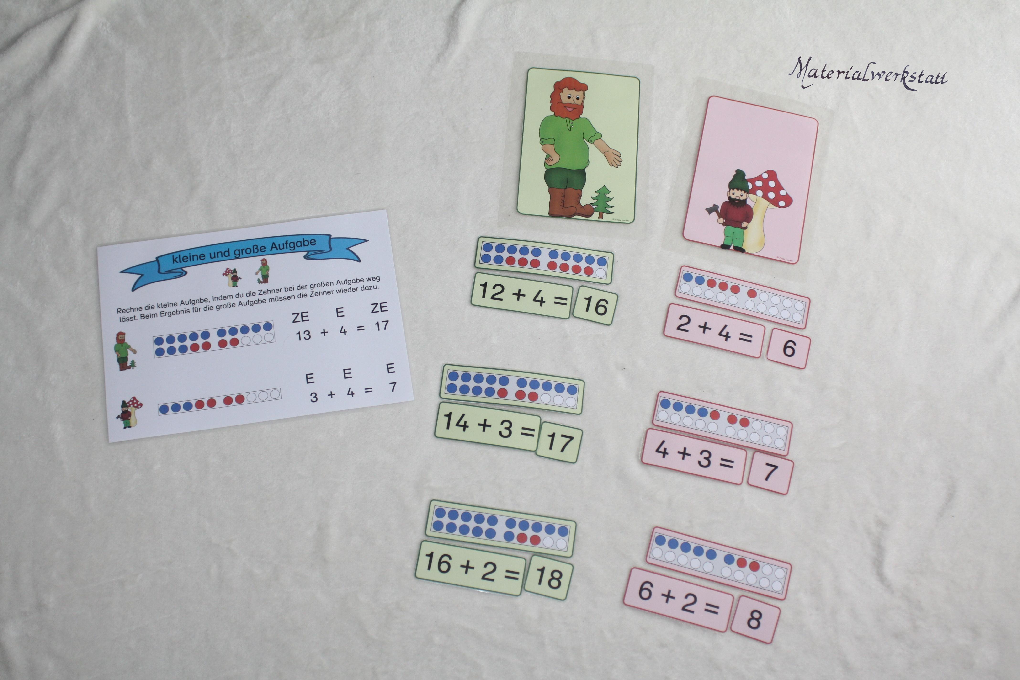 Kleine Und Gro E Aufgabe Addition Zr20 Materialwerkstatt
