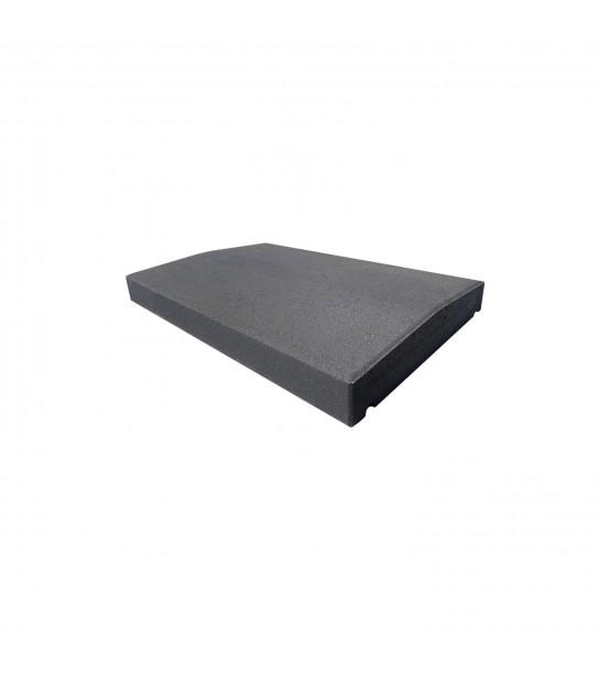 couvre mur beton anthracite 33x50cm epaisseur 6cm