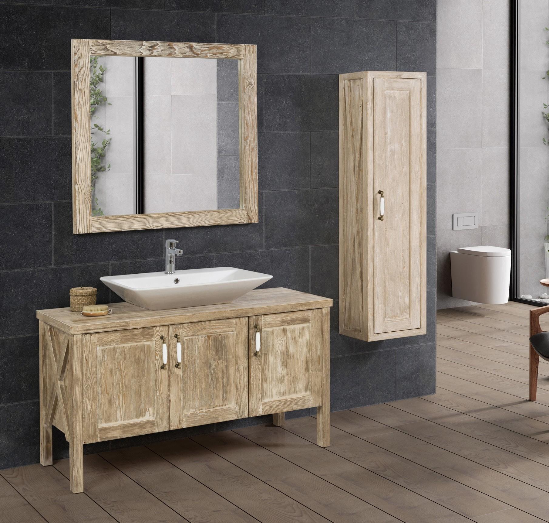 salle de bain couleur pin massif