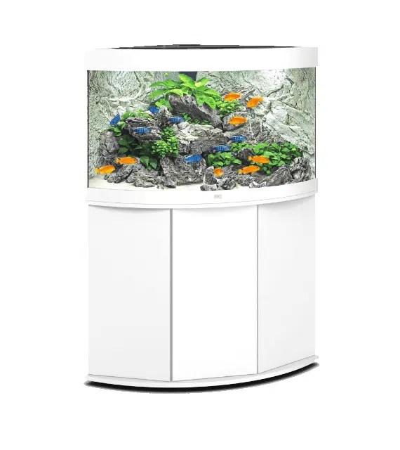aquarium juwel trigon 190 led avec meuble blanc