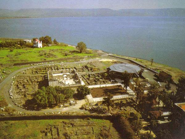 Капернаум. Археологические раскопки, развалины синагоги