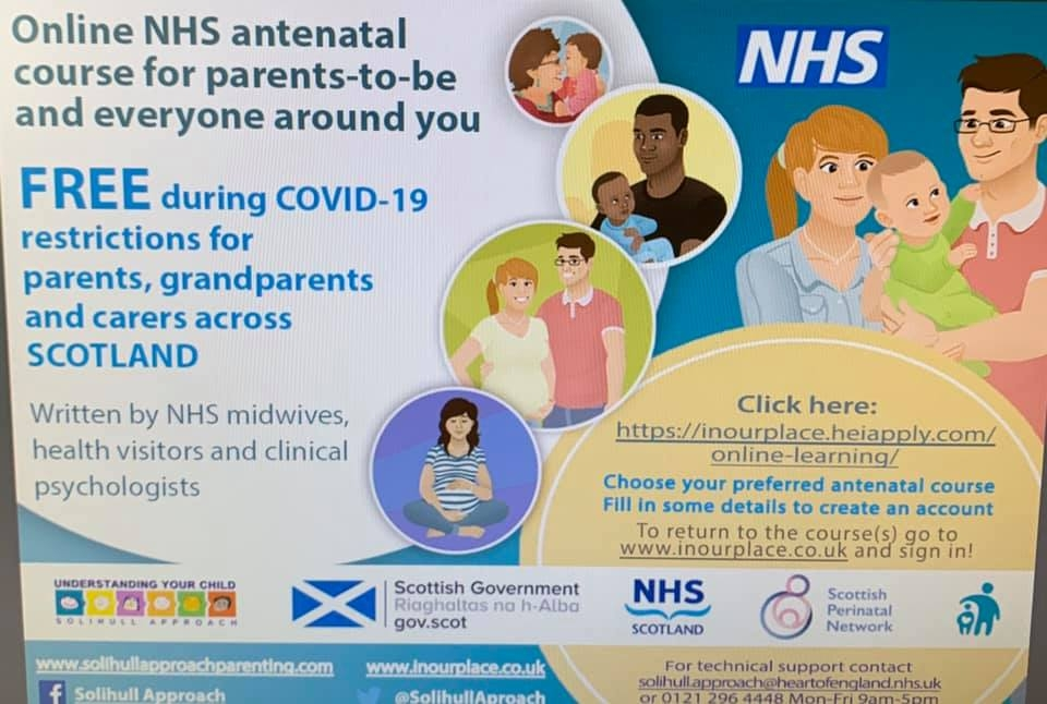 Antenatal classes available online to all in Scotland