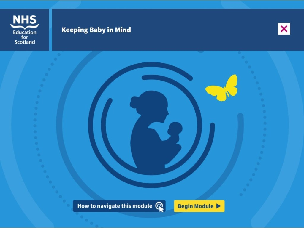 Title image for Keeping Baby in Mind, a module from NHS Education for Scotland