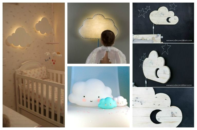 Nubes y cuartos infantiles | Maternidad como puedas