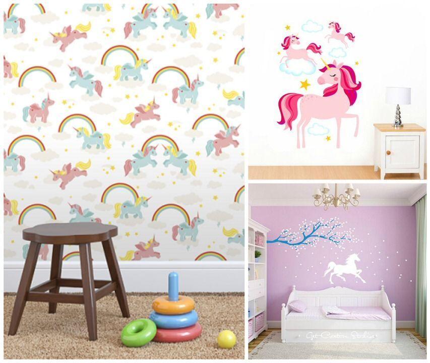 Unicornios y cuartos infantiles   Maternidad como puedas