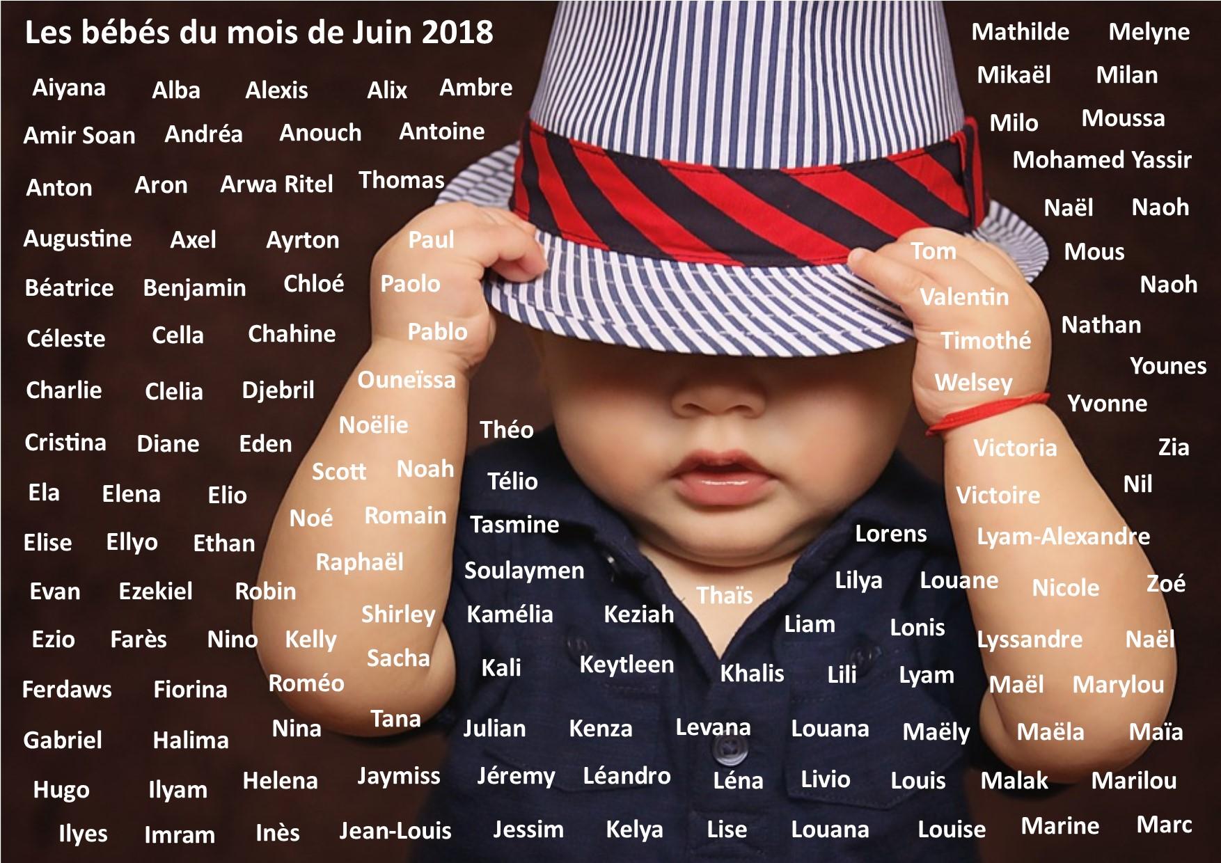 BB DU MOIS DE JUIN 2018  Maternit de la clinique Saint George