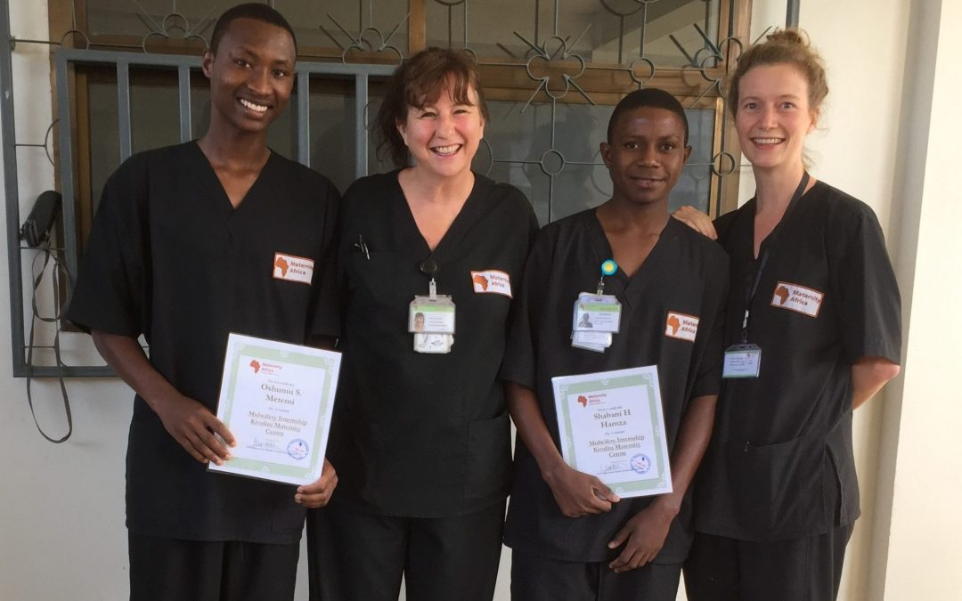Congratulations to Shabani and Oshumu – our latest qualified midwives