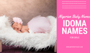 Nigerian baby names: Idoma names for girls