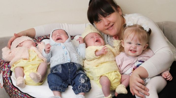 Woman gives birth to FOUR babies in 11 months
