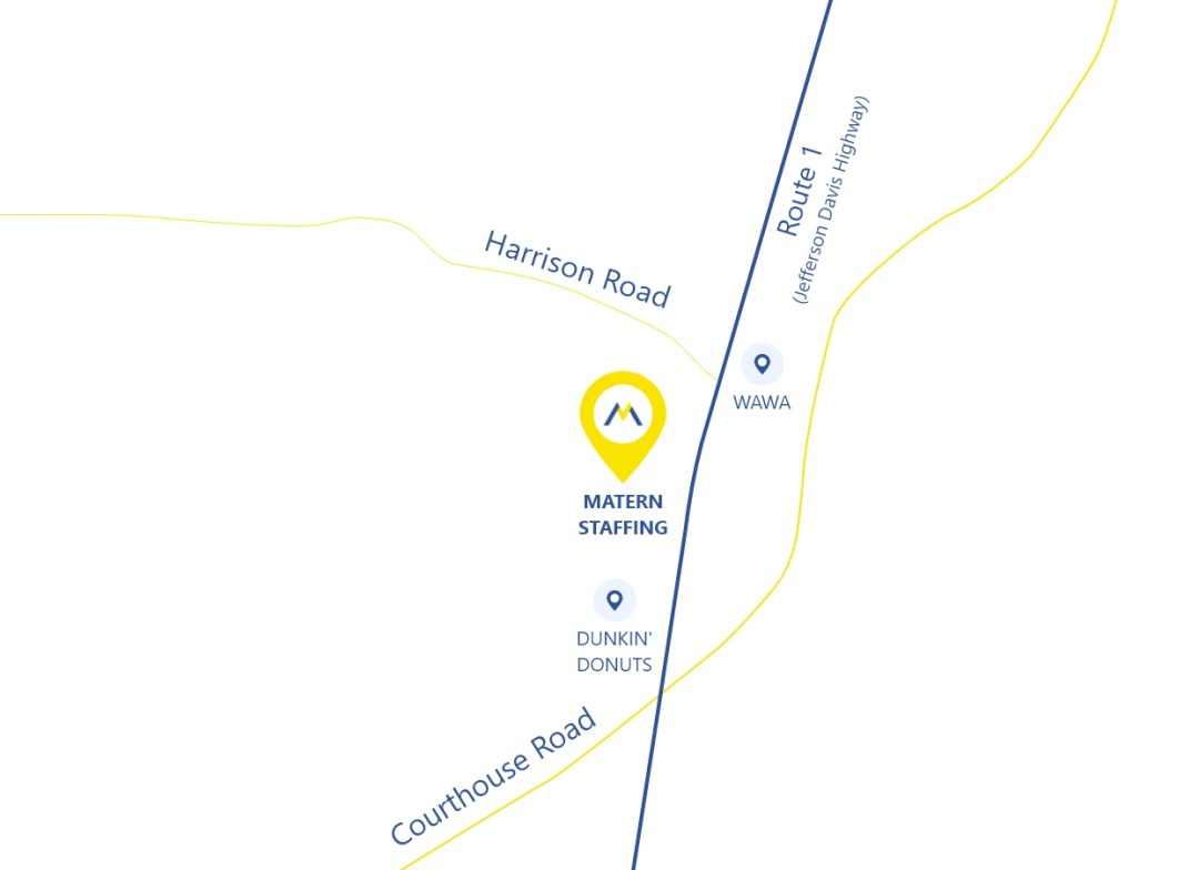 Location of Matern Staffing in Fredericksburg VA