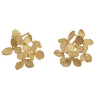 18K Gold Flower Earrings  Matero