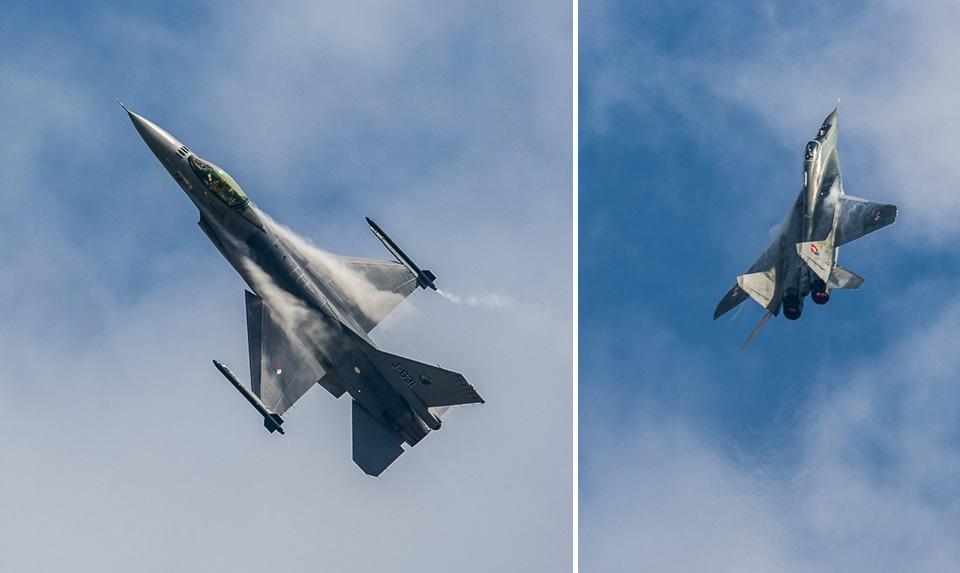 F16 MiG29 NATO Days 2014