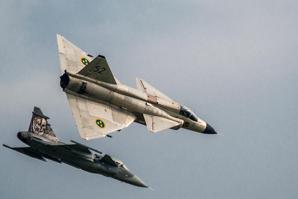 F16 Grippen Viggen NATO Days 2014