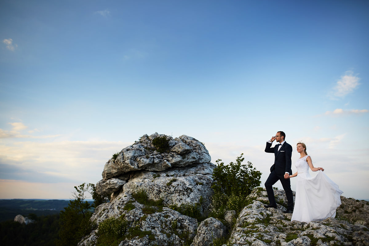 Plener młoda para, fotograf na plener w górach, Plener Jura, Fotograf Ślubny, Mateusz Przybyła
