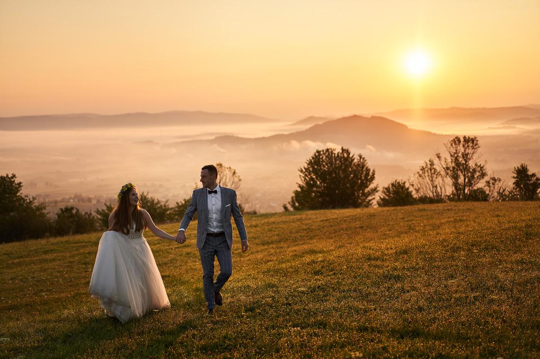 Ślub Śląsk, Fotograf na wesele, fotograf Ślubny Śląsk Plener o wschodzie