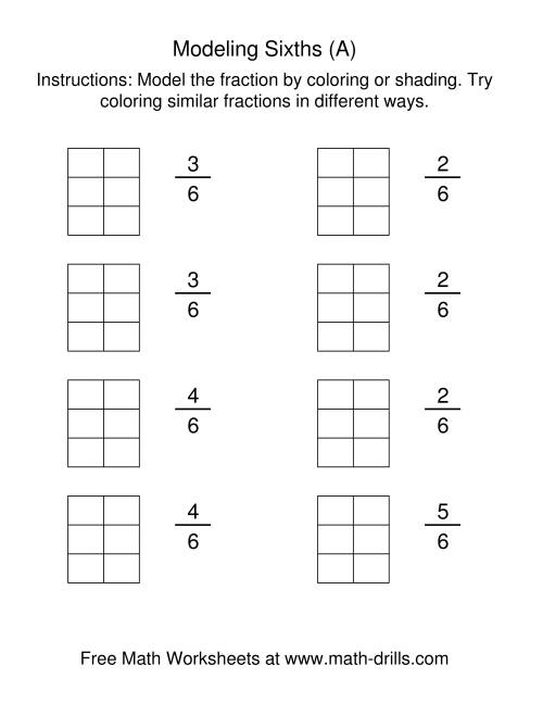 Coloring Fraction Worksheets  Identifying Fractions