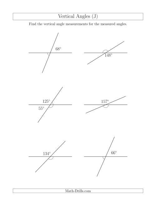 Vertical Angle Relationships (J)