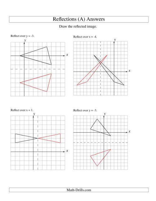 Reflections Worksheet Answers : reflections, worksheet, answers, Reflection, Vertices, Various, Lines