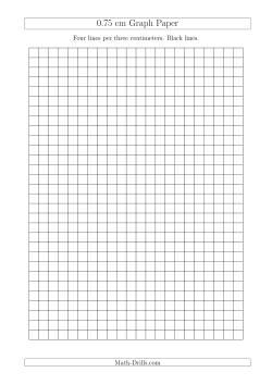 0.75 cm Graph Paper with Black Lines (A4 Size) (A) Graph Paper