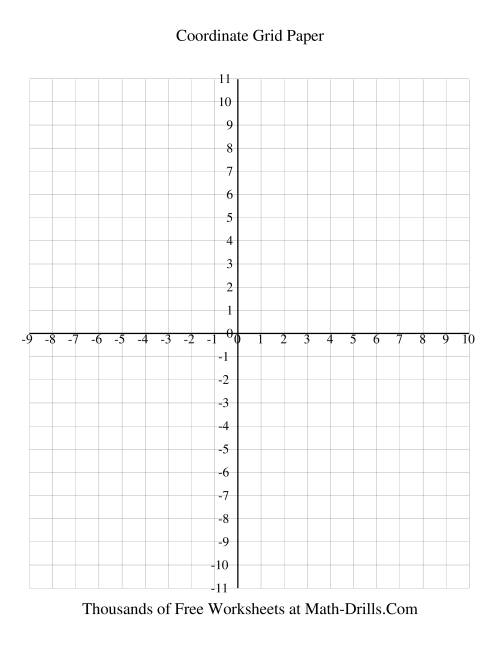 1 Cm Coordinate Grid (every Line Labeled