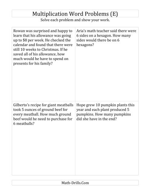 hight resolution of 4th grade word problem worksheets - printable   K5 Learning