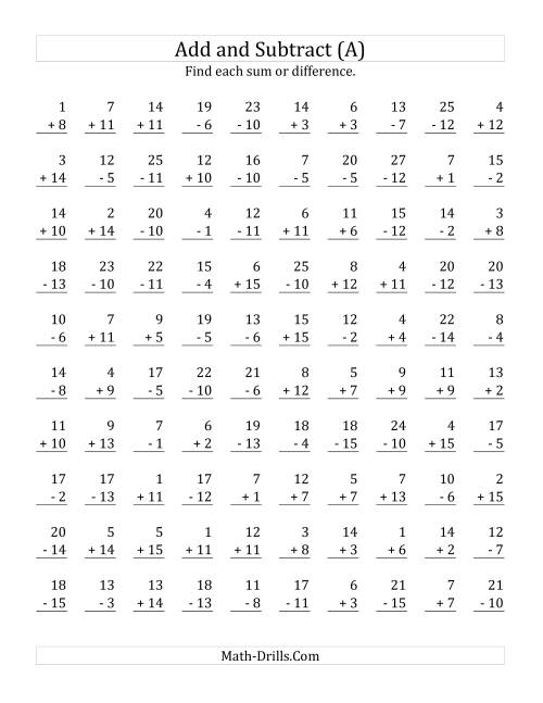 Related Addition And Subtraction Facts Worksheets  Related Subtraction Facts Worksheets First