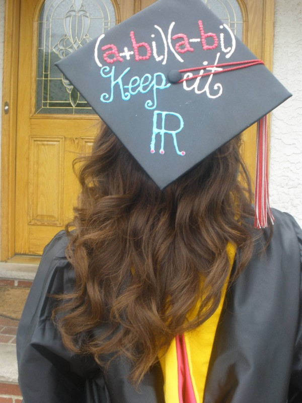 graduating from college math