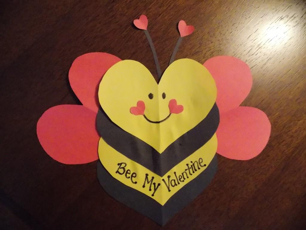 Bee My Valentine Craft Idea For Kids