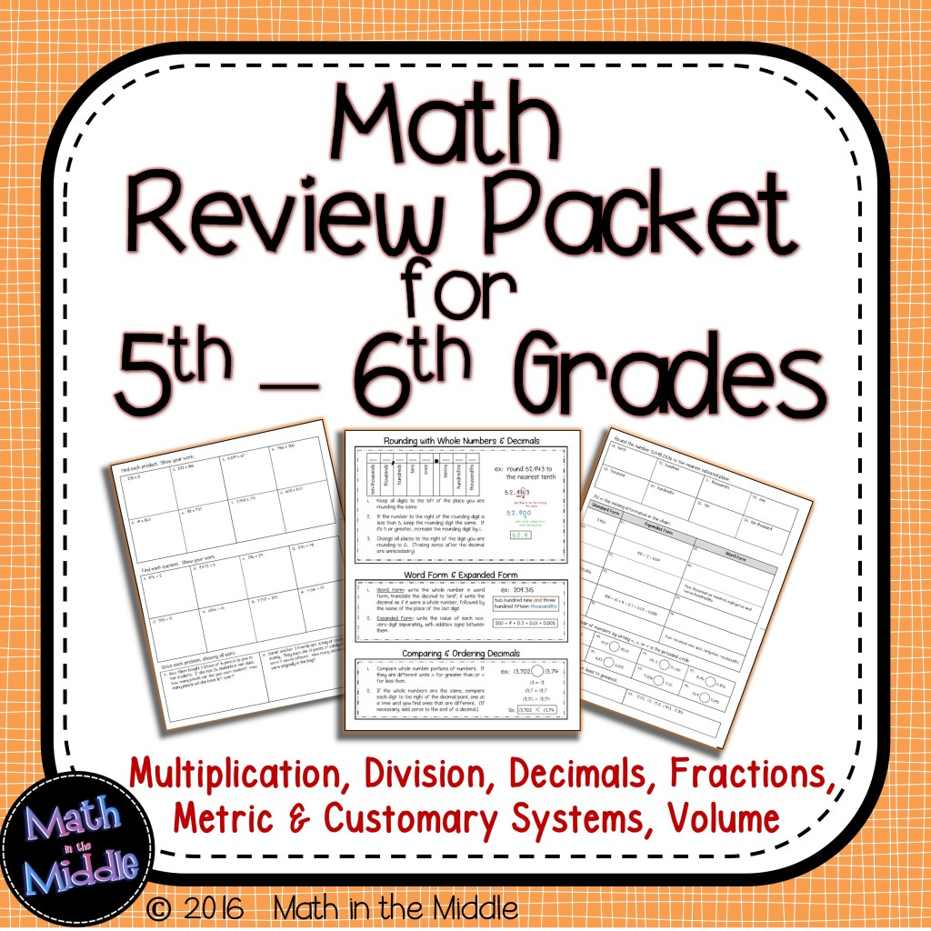 hight resolution of Ideas for Keeping the Math Fresh in Students' Minds - Math in the Middle