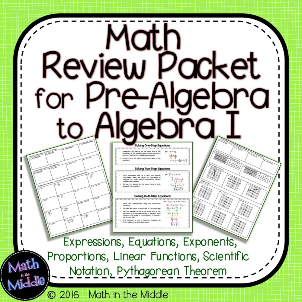 medium resolution of Ideas for Keeping the Math Fresh in Students' Minds - Math in the Middle
