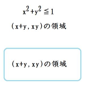 (x+y,xy)の領域