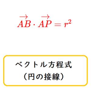 ベクトル方程式(円の接線)