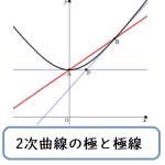 二次曲線の極と極線