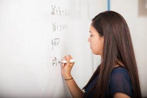 7th grade math student