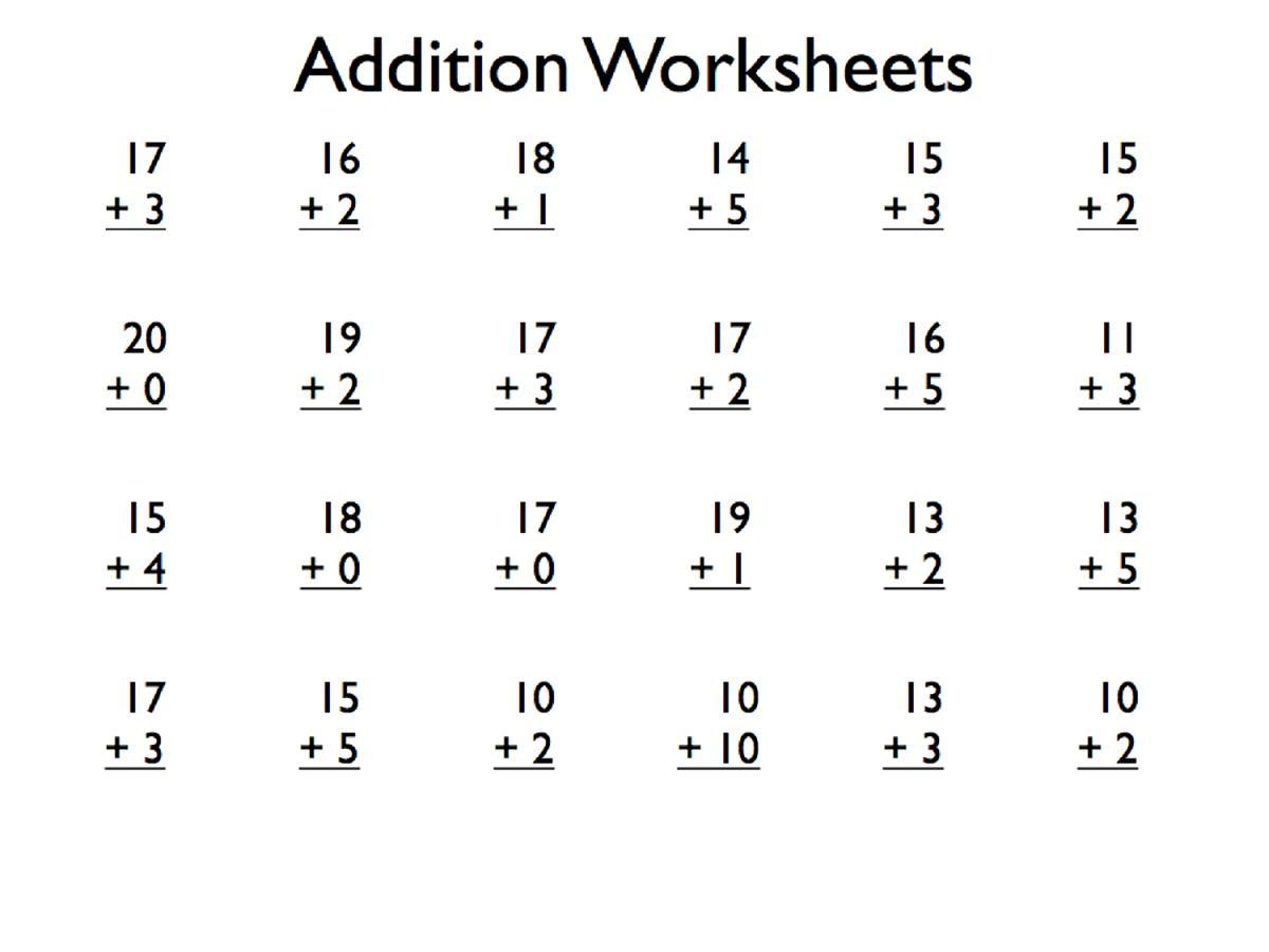 small resolution of Math Worksheets Grade 1 – Math Worksheets