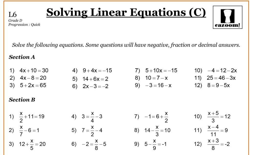 medium resolution of Math Worksheets For Grade 7 And 8 – Math Worksheets