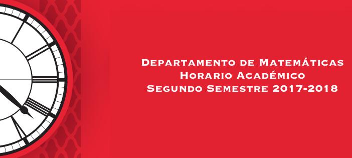 Horario Académico 2017-2018 Segundo Semestre