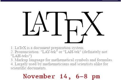 Latex Workshop II – Department of Mathematics