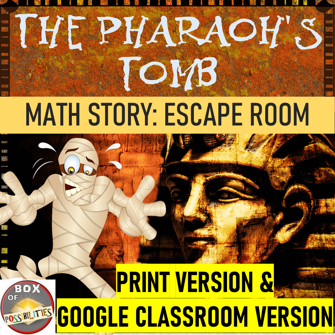 Egyptian Math Escape Room Story Use Math To Defeat The