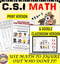 CSI Math Activity - Use Math To Find Out Who Committed the Crime   Math  Activities Club [ 1123 x 1123 Pixel ]